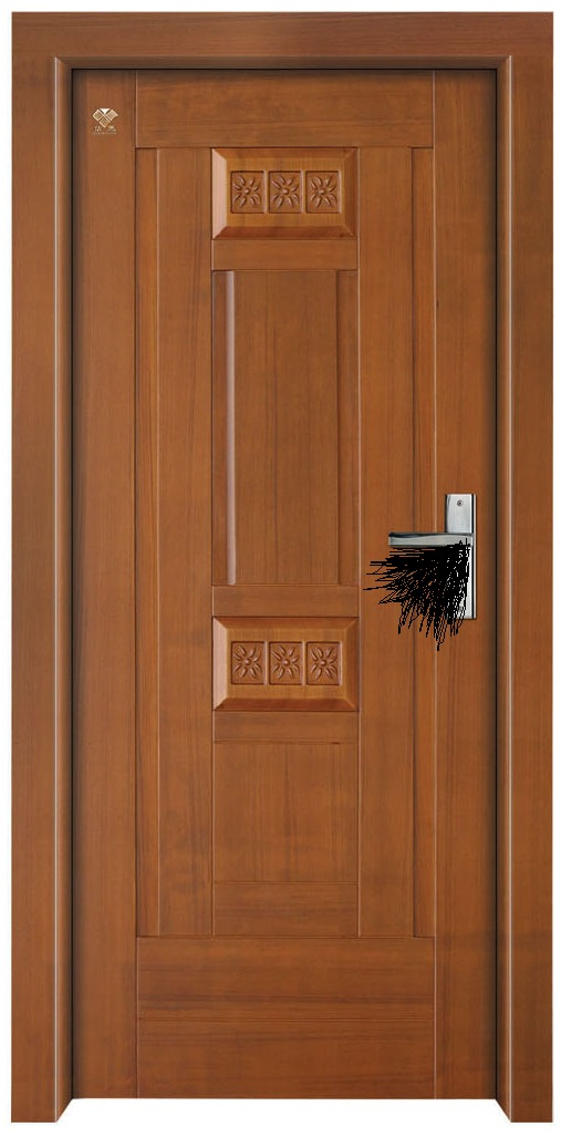Painted interior wooden door